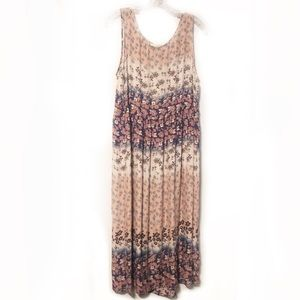 Johnny Was Boho silk floral print dress
